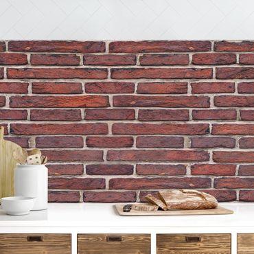 Rivestimento cucina - Parete in mattoni rossi