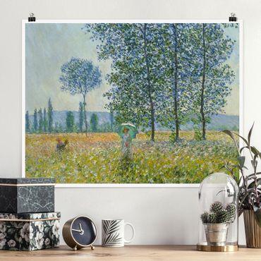 Poster - Claude Monet - campo in primavera - Orizzontale 3:4