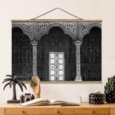 Foto su tessuto da parete con bastone - Porta Bianco - Orizzontale 2:3
