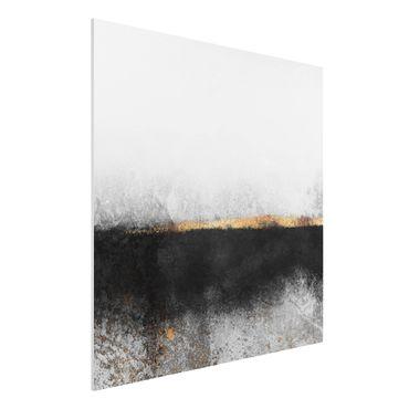 Stampa su Forex - Estratto Golden Horizon Bianco e nero - Quadrato 1:1