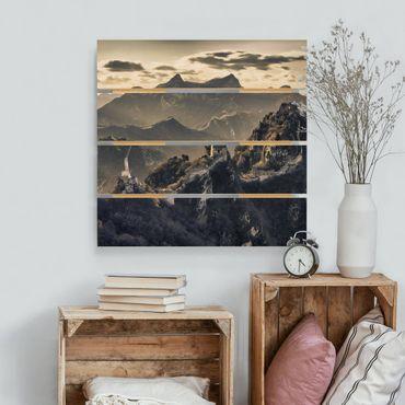 Stampa su legno - La Grande Muraglia cinese - Quadrato 1:1