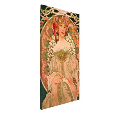 Lavagna magnetica - Alfons Mucha - Poster For F. Champenois - Formato verticale 4:3