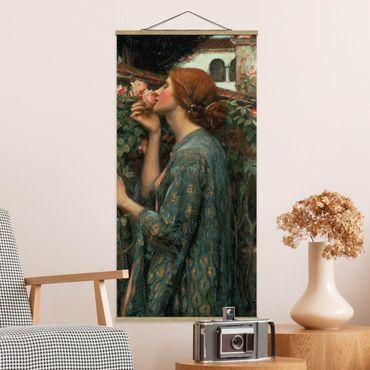 Foto su tessuto da parete con bastone - John William Waterhouse - L'anima della rosa - Verticale 2:1