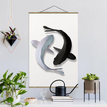 Foto su tessuto da parete con bastone - Pesce Ying Yang - Verticale 3:2