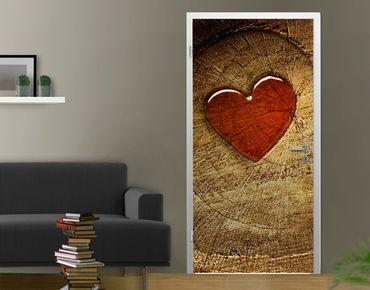 """Carta da parati per porte no.56 """"WITH ALL MY HEART"""" 100x210cm"""