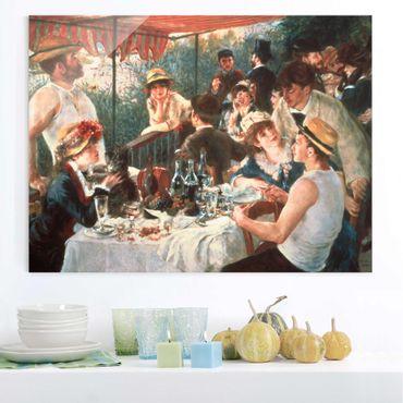 Quadro in vetro - Auguste Renoir - La colazione dei canottieri - Orizzontale 3:4