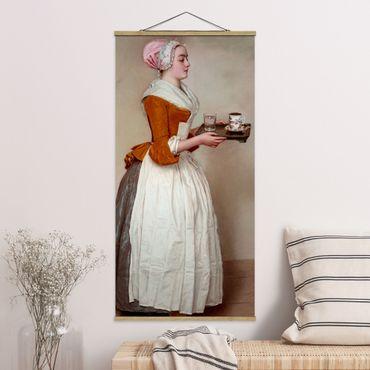 Foto su tessuto da parete con bastone - Jean Etienne Liotard - La ragazza del cioccolato - Verticale 2:1