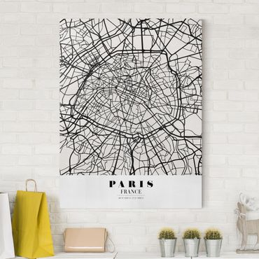 Stampa su tela - Paris City Map - Classic - Verticale 3:4