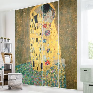 Tende scorrevoli set - Gustav Klimt - Il bacio - 4 Pannelli