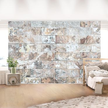 Tende scorrevoli set - Natural Marble Stone Wall