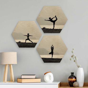 Esagono in legno - Yoga Trio