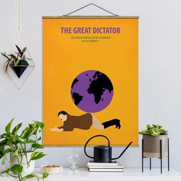 Foto su tessuto da parete con bastone - Poster del film Il grande dittatore - Verticale 4:3