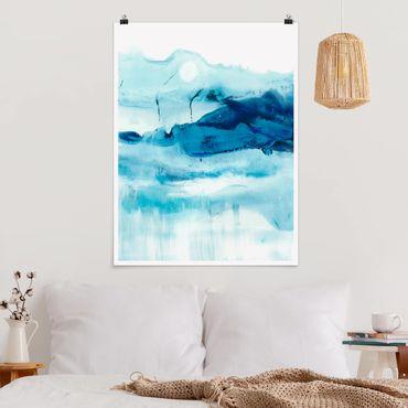Poster - Blu Flow I - Verticale 4:3