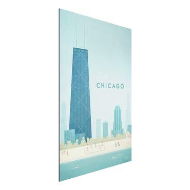 Stampa su alluminio - Poster viaggio - Chicago - Verticale 3:2