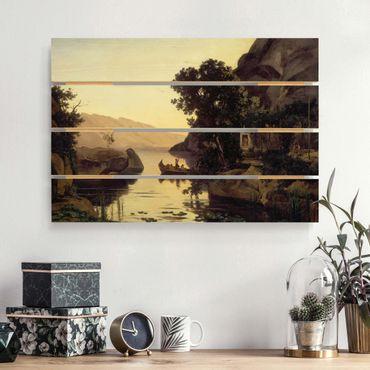 Stampa su legno - Jean-Baptiste-Camille Corot - Paesaggio dintorni di Riva - Orizzontale 2:3