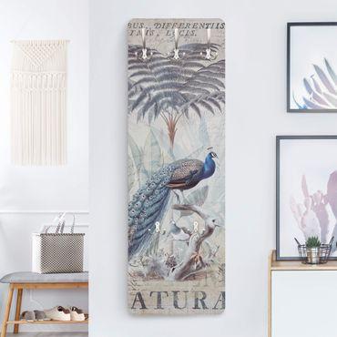 Appendiabiti - Shabby Chic Collage - Peacock