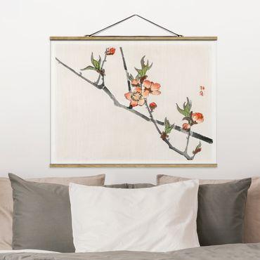 Foto su tessuto da parete con bastone - Asian Vintage Disegno Cherry Blossom Branch - Orizzontale 3:4