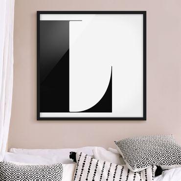 Poster con cornice - Antiqua Letter L - Quadrato 1:1