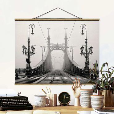 Foto su tessuto da parete con bastone - Ponte A Budapest - Orizzontale 3:4