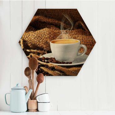 Esagono in legno - Morning Coffee