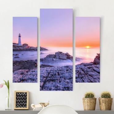 Stampa su tela 3 parti - Lighthouse In The Morning - Trittico da galleria