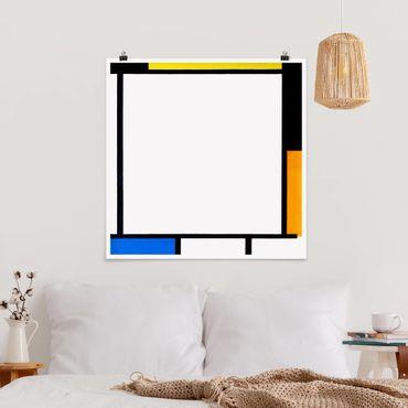 Poster - Piet Mondrian - Composizione II - Quadrato 1:1