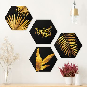 Esagono in forex - Gold - Tropical Vibes On Black Set II