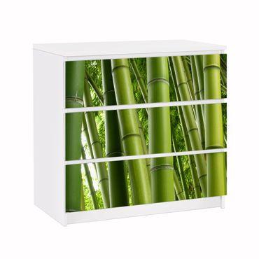 Carta adesiva per mobili IKEA - Malm Cassettiera 3xCassetti - Bamboo Trees No.1