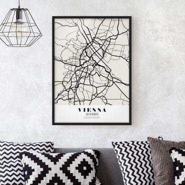 Poster con cornice - Vienna City Map - Classic - Verticale 4:3