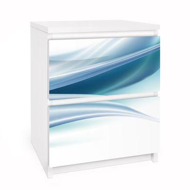 Carta adesiva per mobili IKEA - Malm Cassettiera 2xCassetti - Blue Dust