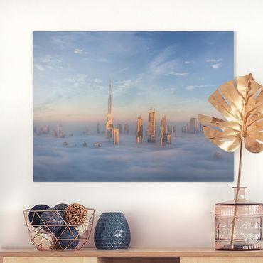 Stampa su tela - Dubai Sopra Le Nuvole - Orizzontale 4:3
