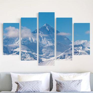 Stampa su tela 5 parti - Mount Everest