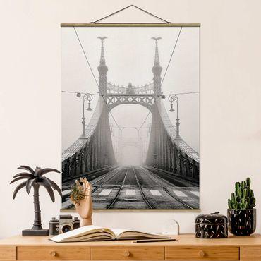 Foto su tessuto da parete con bastone - Ponte A Budapest - Verticale 4:3
