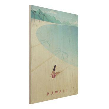 Stampa su legno - Poster Viaggi - Hawaii - Verticale 4:3