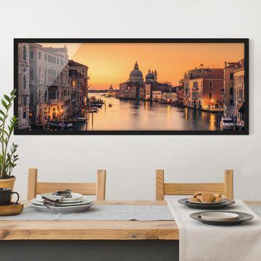 Poster con cornice - d'oro Venezia - Panorama formato orizzontale