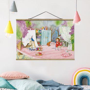 Foto su tessuto da parete con bastone - Strawberry Coniglio Erdbeerfee - Tinker - Orizzontale 2:3
