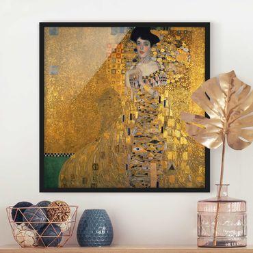 Poster con cornice - Gustav Klimt - Portrait Of Adele Bloch-Bauer I - Quadrato 1:1
