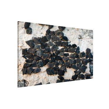 Lavagna magnetica - Muro con pietre nere - Formato orizzontale 3:2