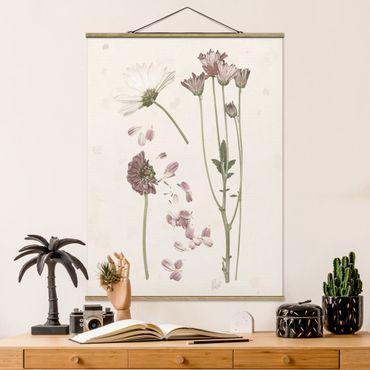 Foto su tessuto da parete con bastone - Herbarium In Pink II - Verticale 4:3