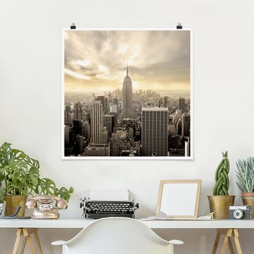 Poster - Manhattan Alba - Quadrato 1:1