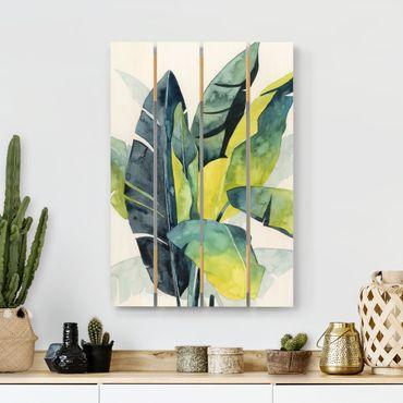 Stampa su legno - Tropical Foliage - Banana - Verticale 3:2
