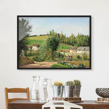 Poster con cornice - Camille Pissarro - Small Village - Orizzontale 3:4