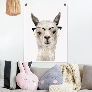 Poster - Hip Lama con i vetri I - Verticale 4:3