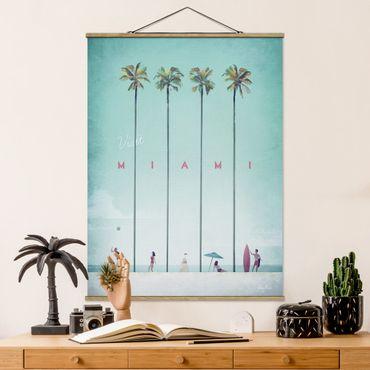 Foto su tessuto da parete con bastone - Poster viaggio - Miami - Verticale 4:3