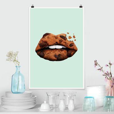 Poster - Jonas Loose - Labbra con biscotto - Verticale 3:2