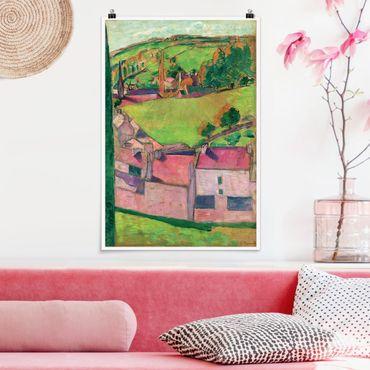 Poster - Emile Bernard - Panorama di Pont-Aven - Verticale 3:2