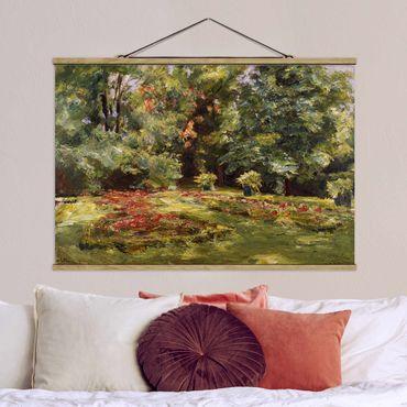 Foto su tessuto da parete con bastone - Max Liebermann - Fiore Terrazza Wannseegarten - Orizzontale 2:3