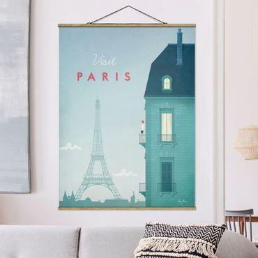 Foto su tessuto da parete con bastone - Poster Viaggio - Parigi - Verticale 4:3