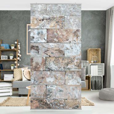 Tenda a pannello - Natural marble stone wall - 250x120cm