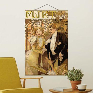 Foto su tessuto da parete con bastone - Alfons Mucha - Pubblicità Poster For Flirt Biscuits - Verticale 3:2